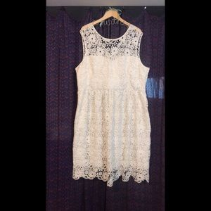 Anthropology Geode White Lace Wedding dress 3x